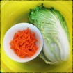 salted cabbage and carrots